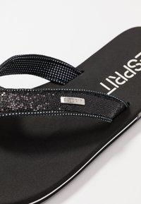 Esprit - GLITTER THONGS - T-bar sandals - black - 2