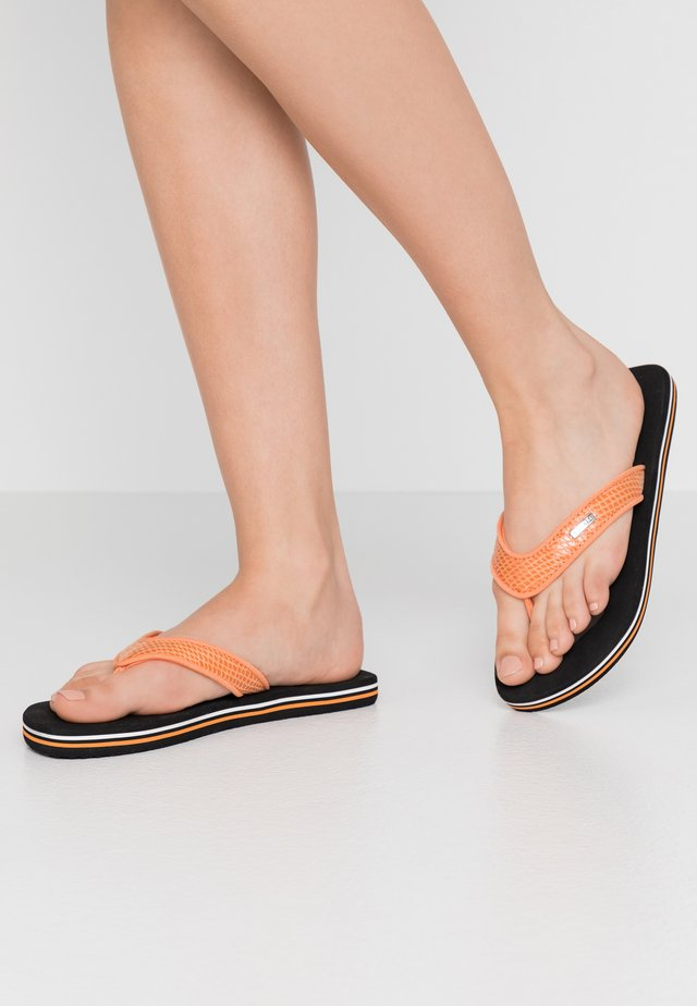 GLITTER SNAKE  - Sandalias de dedo - orange