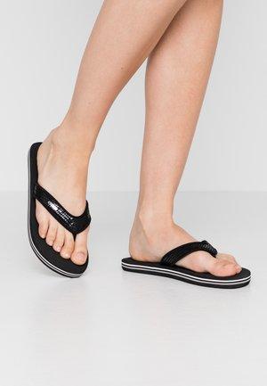 GLITTER SNAKE  - T-bar sandals - black