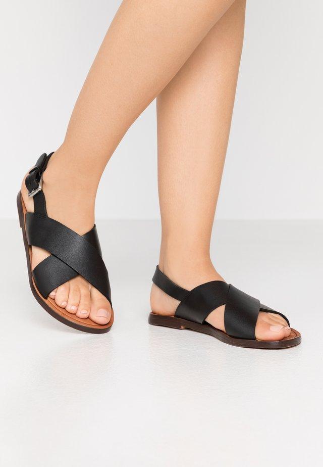 KEOPE  - Sandaalit nilkkaremmillä - black