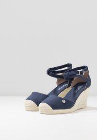 Esprit - JAVA BASIC WEDG - High heeled sandals - navy - 4