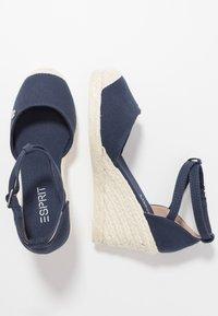 Esprit - JAVA BASIC WEDG - High heeled sandals - navy - 3