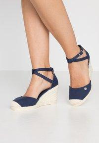 Esprit - JAVA BASIC WEDG - High heeled sandals - navy - 0