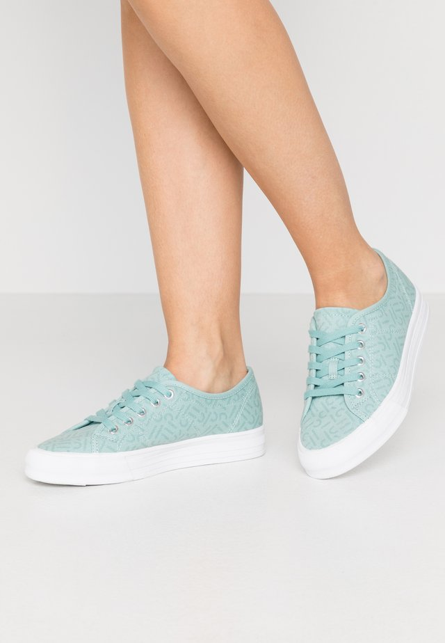 SIMONA LOGO - Sneakersy niskie - light aqua green