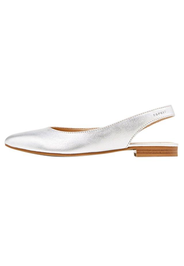 SLINGBACK-BALLERINA AUS LEDER - Ballerinaskor med slingback - silver