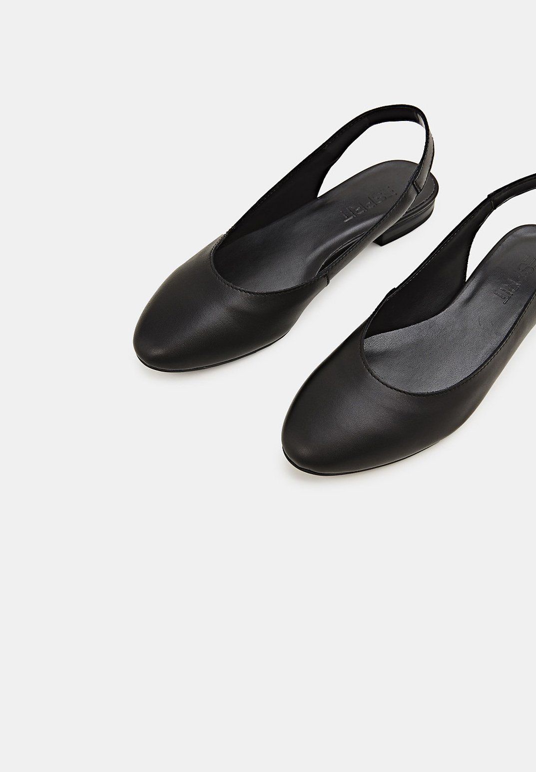 Esprit SLINGBACK-BALLERINA AUS LEDER - Ballerinasko - black