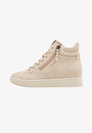 WEDGE-SNEAKER IN NUBUK-OPTIK - Baskets montantes - skin beige