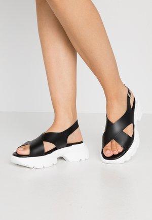 HUNKY  - Sandalias con plataforma - black
