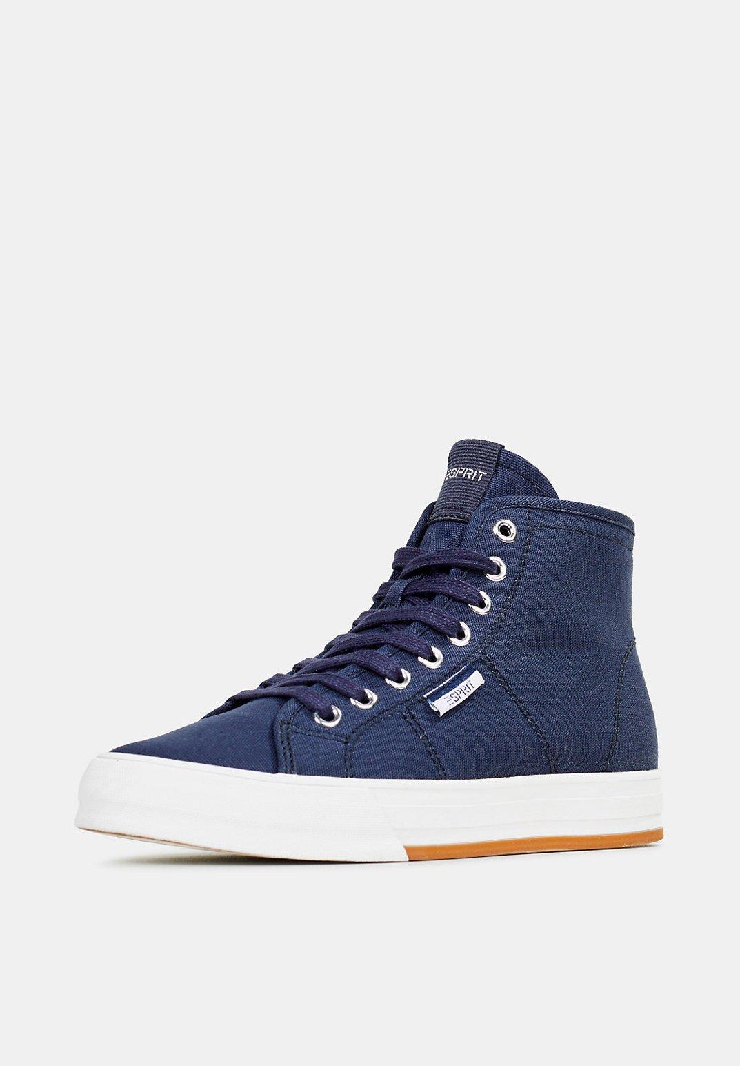 Esprit High Top-sneaker Aus Baumwolle - Höga Sneakers Navy