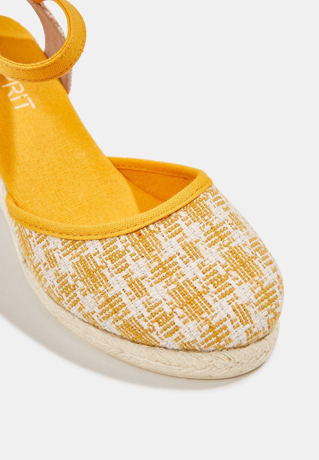 Esprit ESPADRILLE-SANDALE MIT KEIL-ABSATZ - Højhælede sandaletter / Højhælede sandaler - sunflower yellow