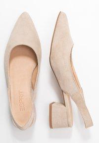 Esprit - KEAN SLING - Classic heels - beige - 3