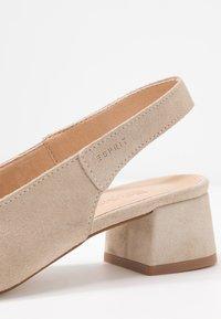 Esprit - KEAN SLING - Classic heels - beige - 2