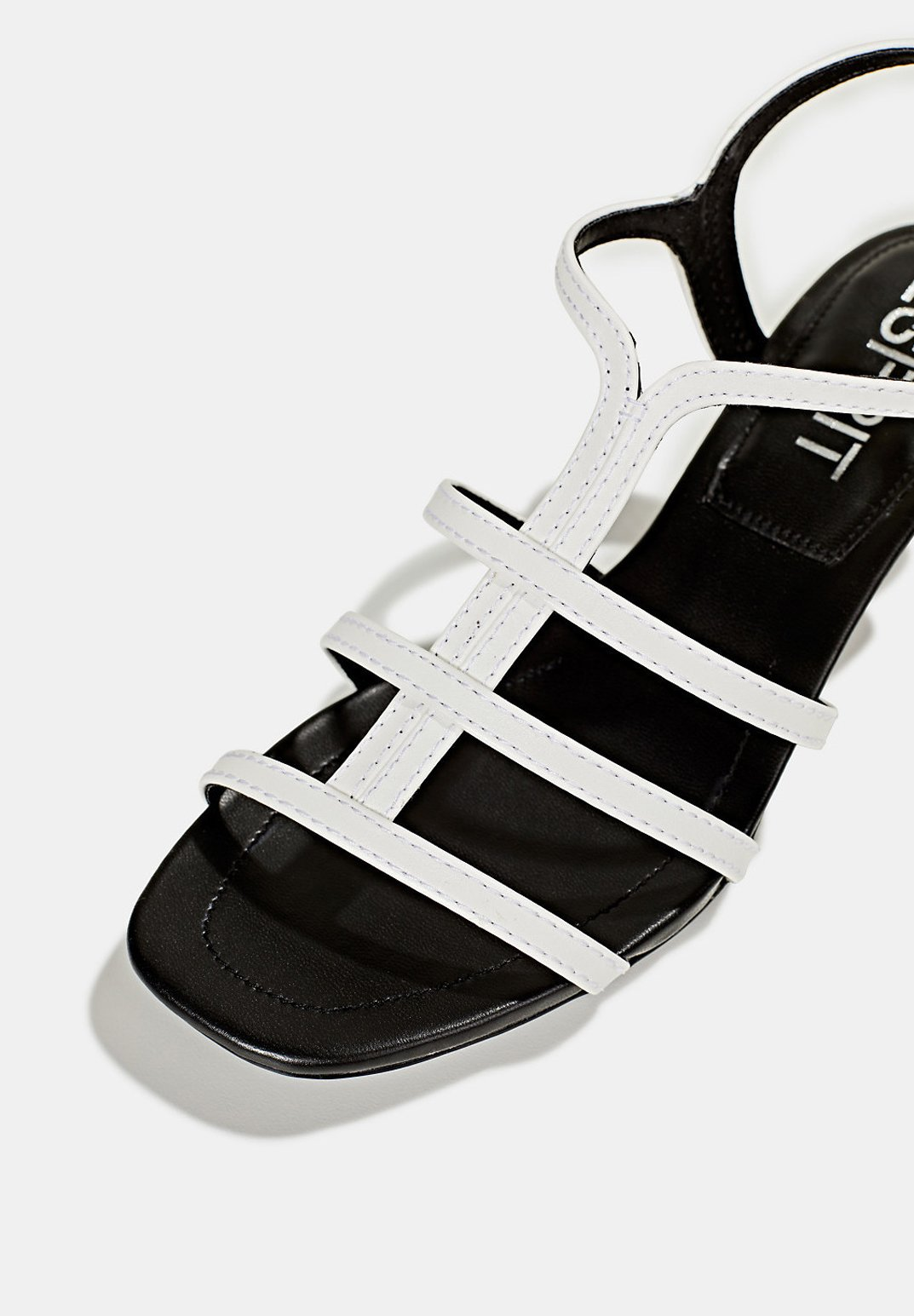 Esprit Sandalette In Leder-optik - Sandales White