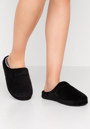 STITCHY MULE - Pantoffels - black
