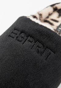 Esprit - STITCHY LEOMULE - Pantoffels - black - 2