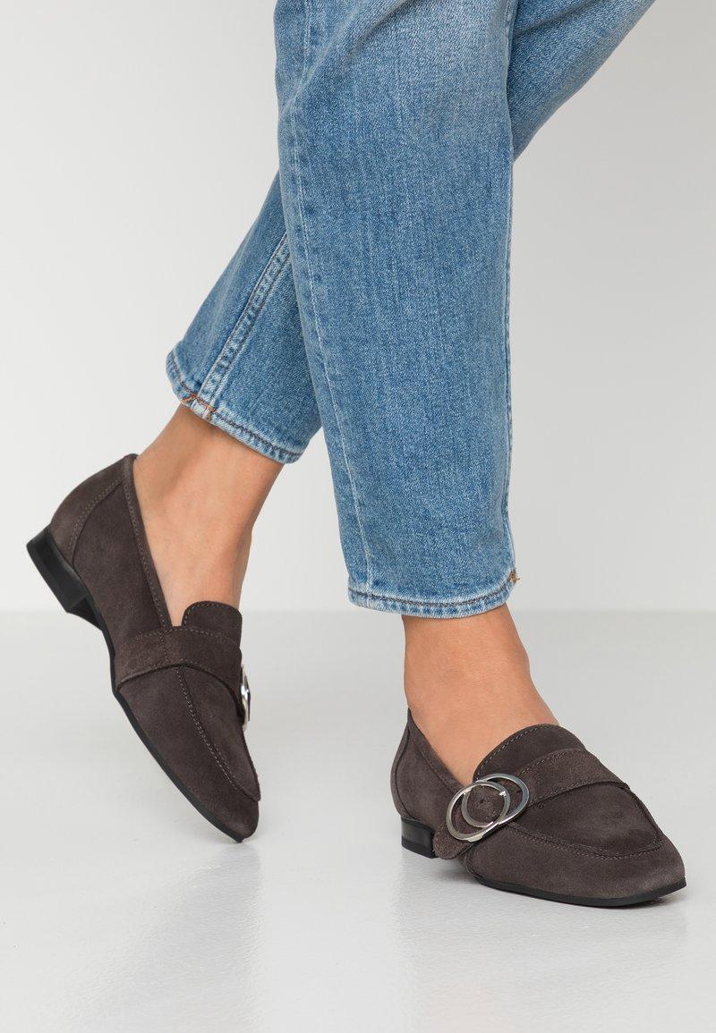 Esprit - CHANTY LOAFER - Slippers - dark grey