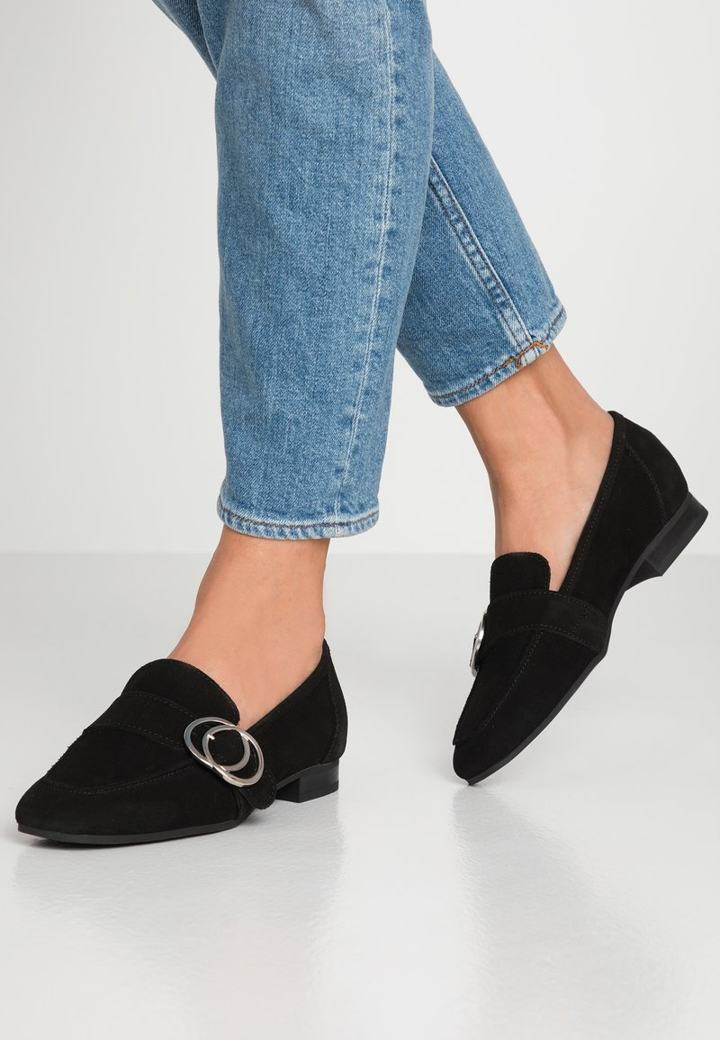 Esprit - CHANTY LOAFER - Slipper - black