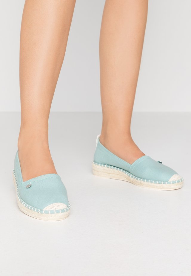 INES BASIC - Espadryle - light aqua green