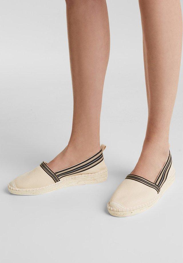INES TAPE SLIP - Espadrilles - cream beige