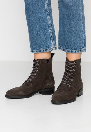Lace-up ankle boots - dark grey