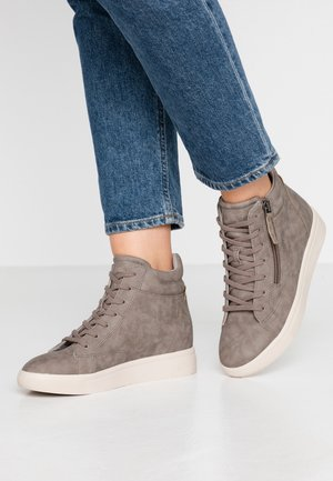 LIZETTE WEDGE - Sneakers high - taupe