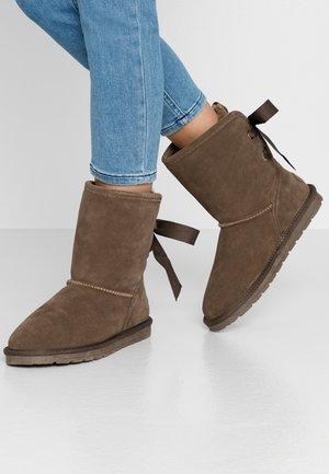 LUNA BACK - Bottines - brown grey