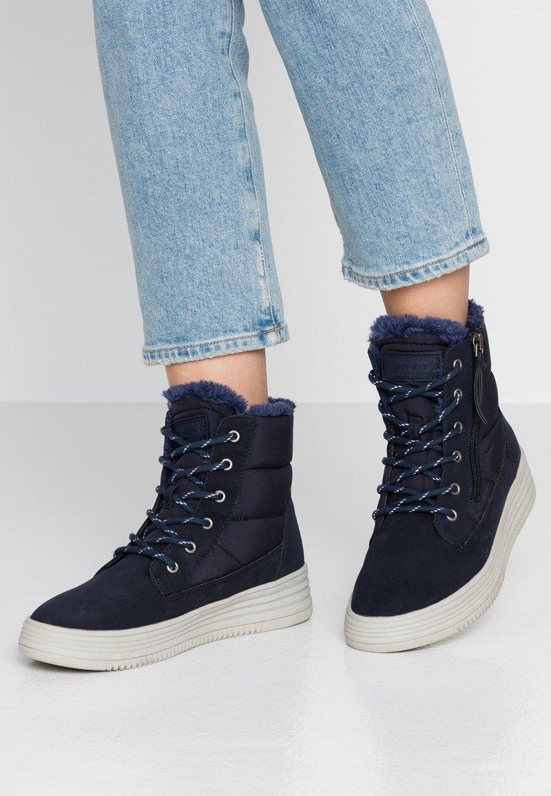 Esprit - LUNI - Baskets montantes - navy