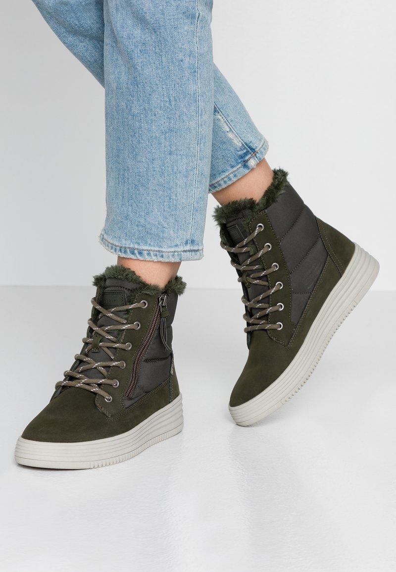 Esprit - LUNI - Sneakers alte - khaki green