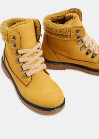 Esprit - Bottines à lacets - brass yellow - 4