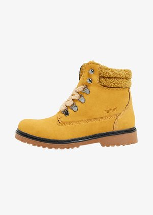Bottines à lacets - brass yellow