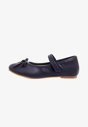MIT KLETT-RIEGEL - Ankle strap ballet pumps - navy
