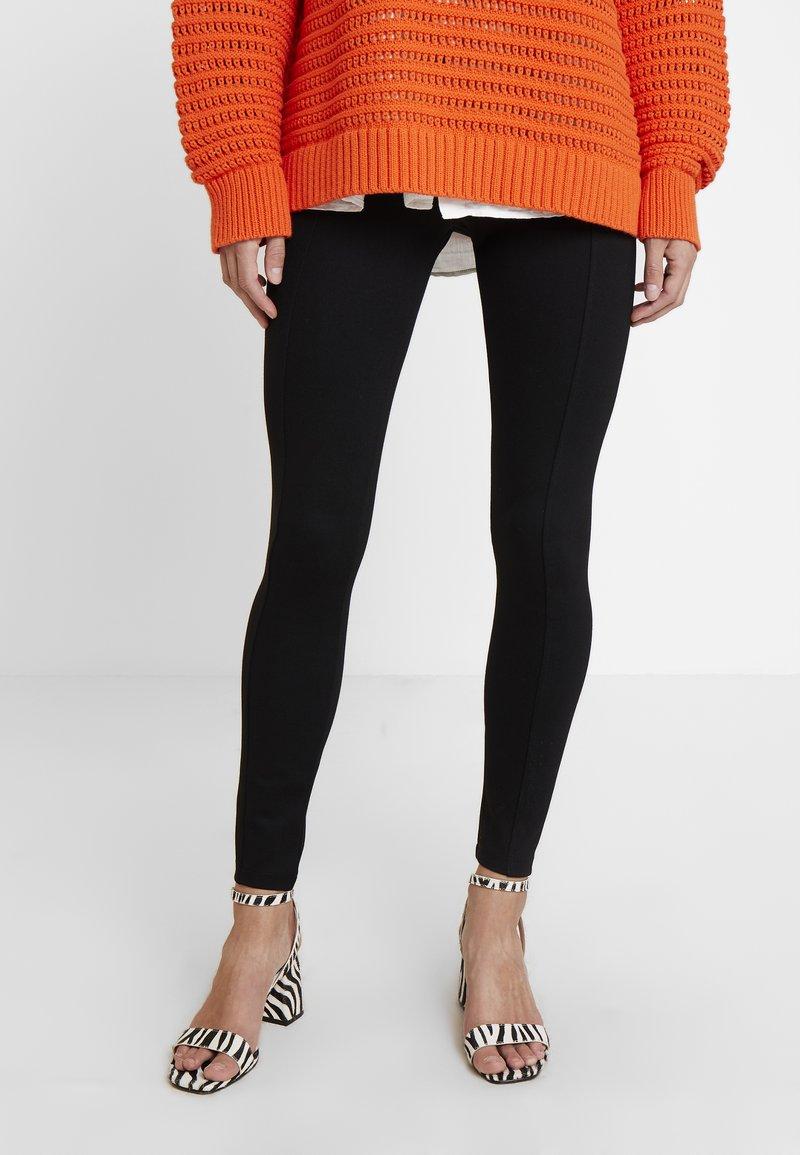Esprit - PUNTO PANT - Leggings - black