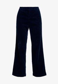 Esprit - WIDE LEG - Spodnie materiałowe - navy - 4