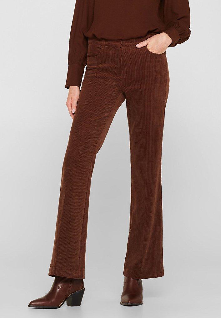 Esprit - Broek - dark brown