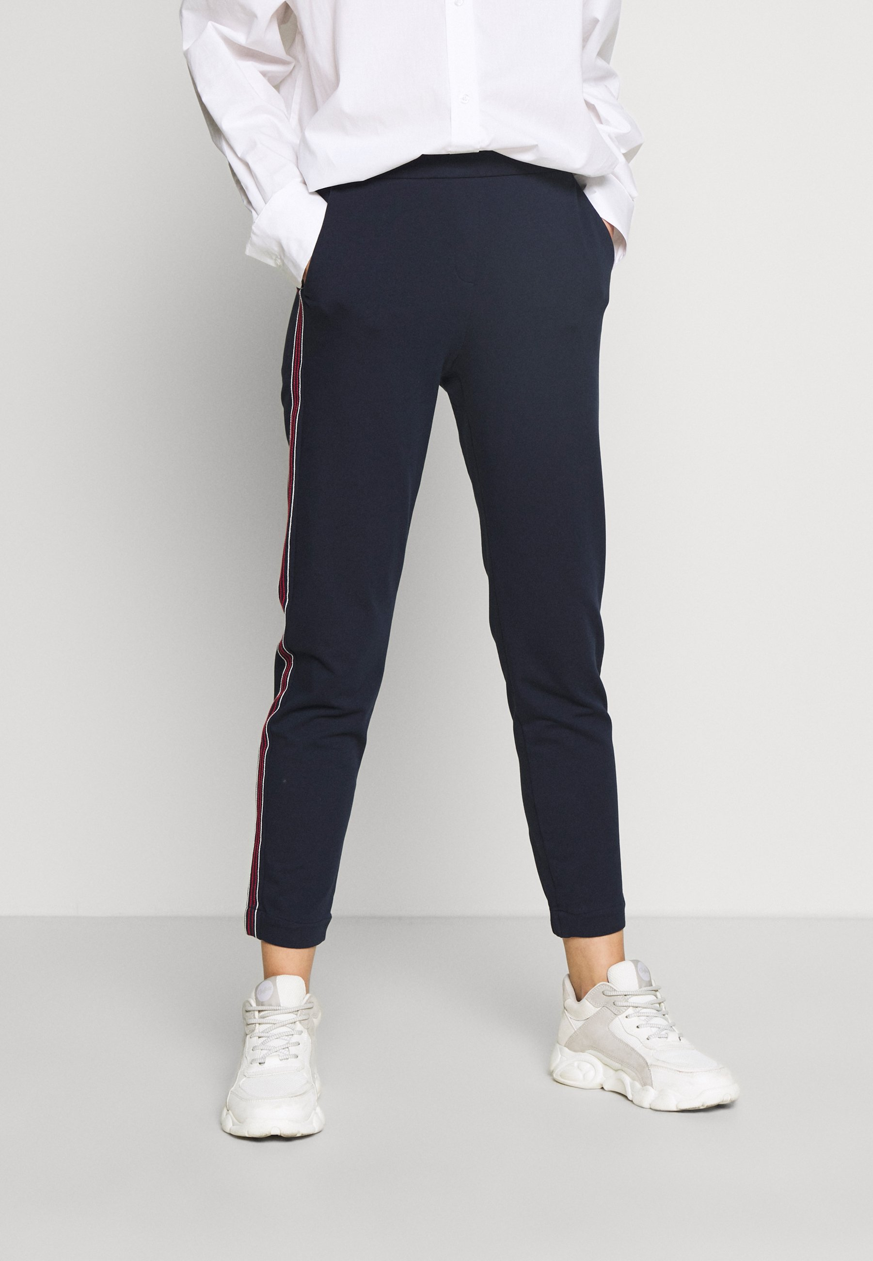 Esprit STICHED JOGGER - Spodnie materiałowe - navy