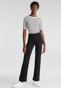 Esprit - Jeans bootcut - black rinse - 1