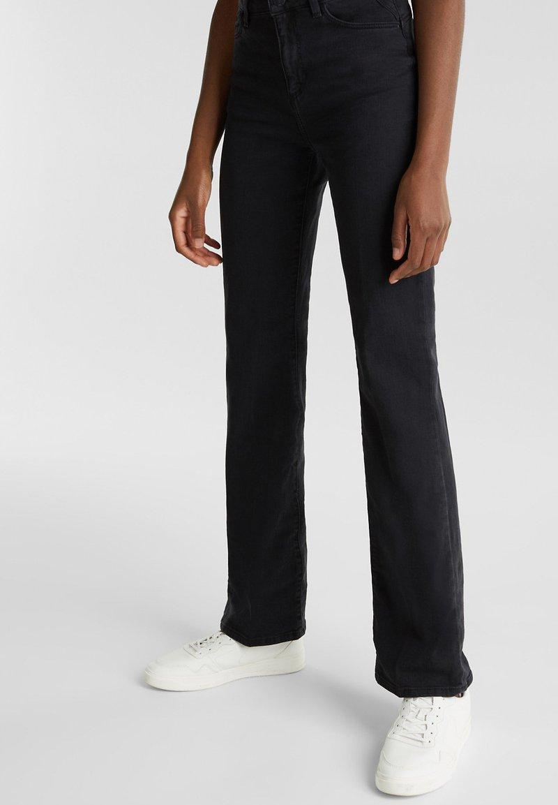 Esprit - Jeans bootcut - black rinse