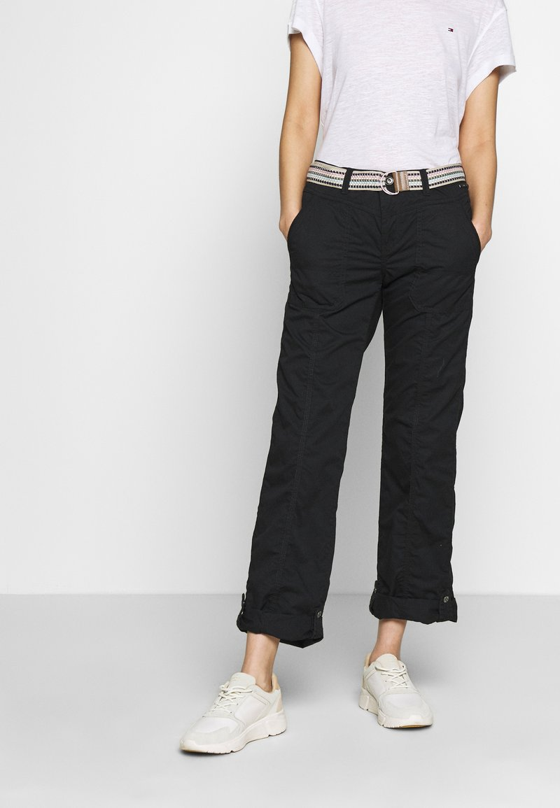 Esprit - PLAY PANTS - Pantalones - black