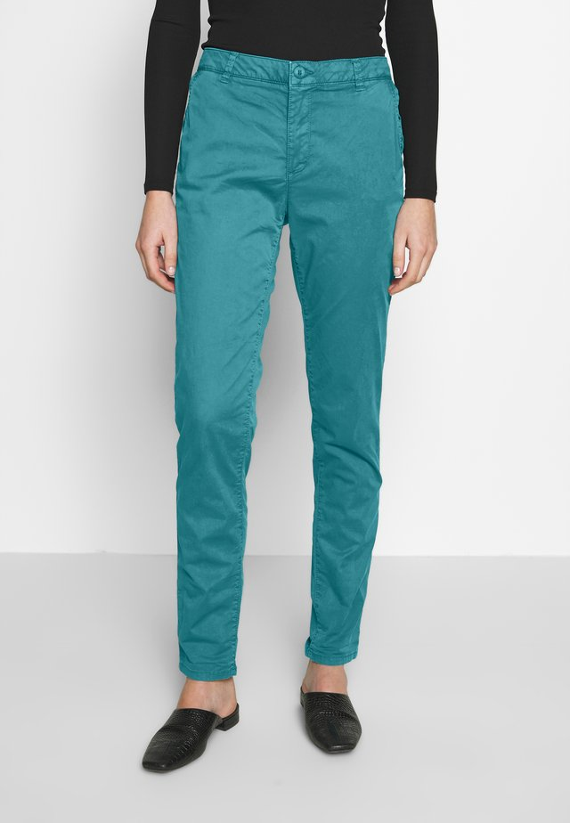 Pantalones chinos - teal green