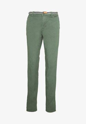 Chinosy - khaki green