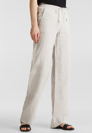 FASHION PANTS - Trousers - light beige