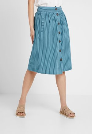 MAY - A-line skirt - dark turquoise