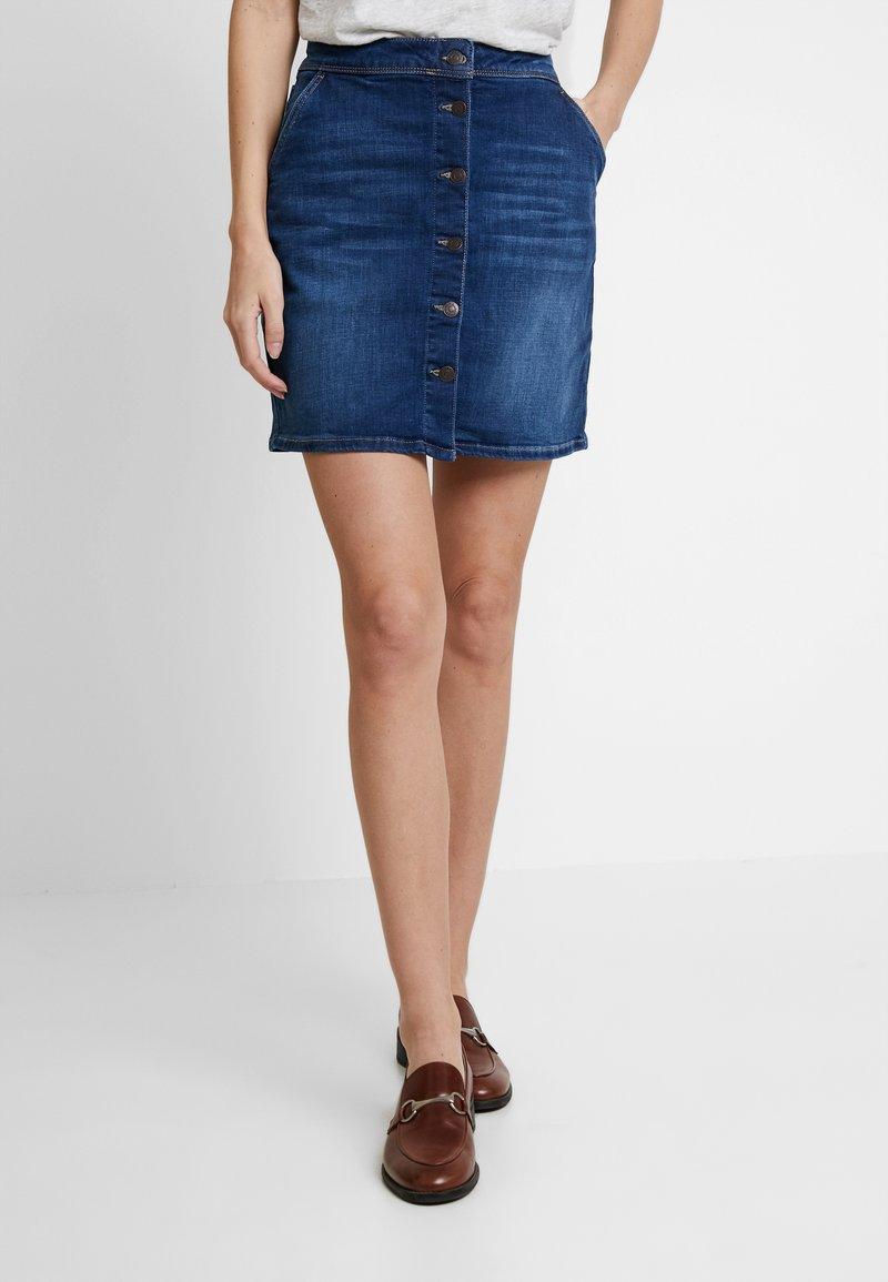 Esprit - A SHAPE - Pencil skirt - blue medium wash