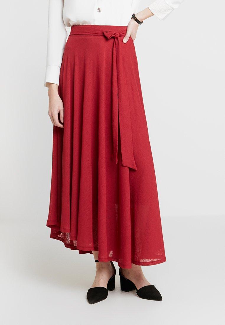 Esprit - SKIRT - Maxi skirt - red