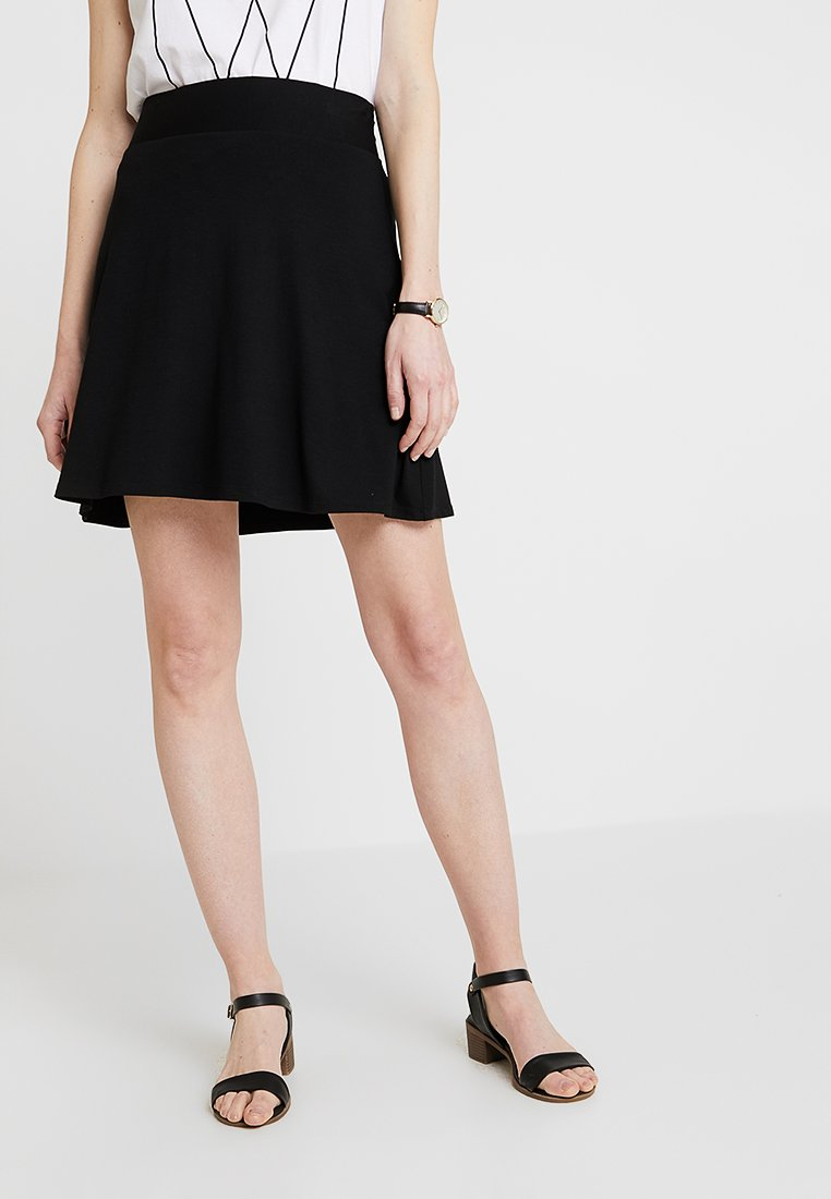 Esprit - BASIC SKIRT - A-Linien-Rock - black
