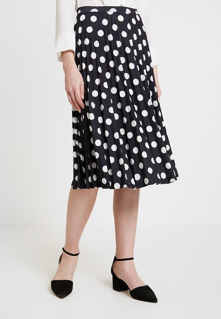 Esprit - PLISSEE SKIRT - A-line skirt - black