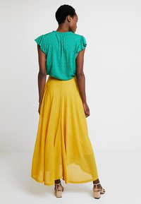 Esprit - FLARED - Maxi skirt - brass yellow - 2