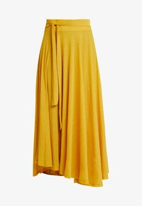 Esprit - FLARED - Maxi skirt - brass yellow - 3