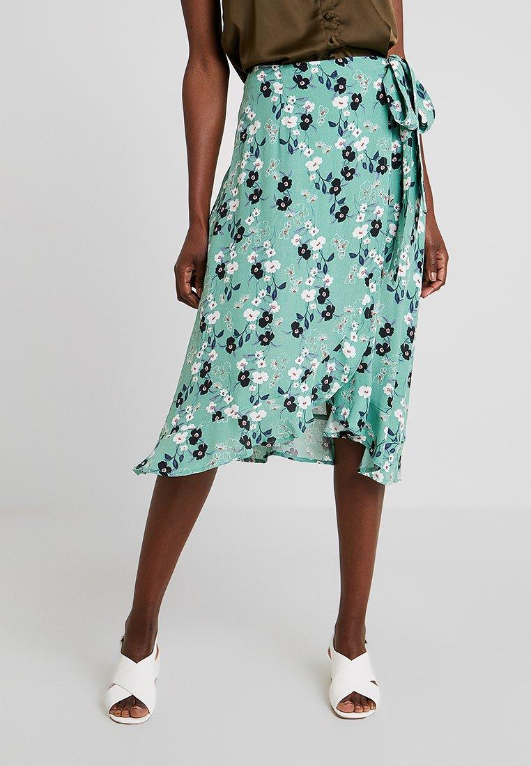 Esprit - WRAP SKIRT - Wrap skirt - light green