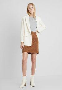 Esprit - MINI SKIRT - A-line skirt - toffee - 1